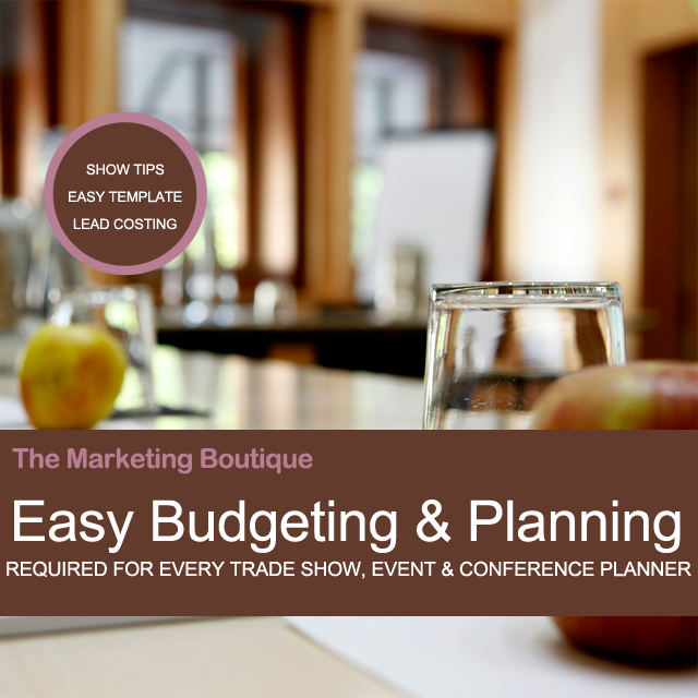 Easy Trade Show Budgeting and Planning Cover-The Marketing Boutique