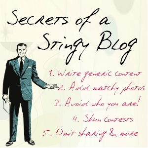 secrets of a stingy blog Content Marketing