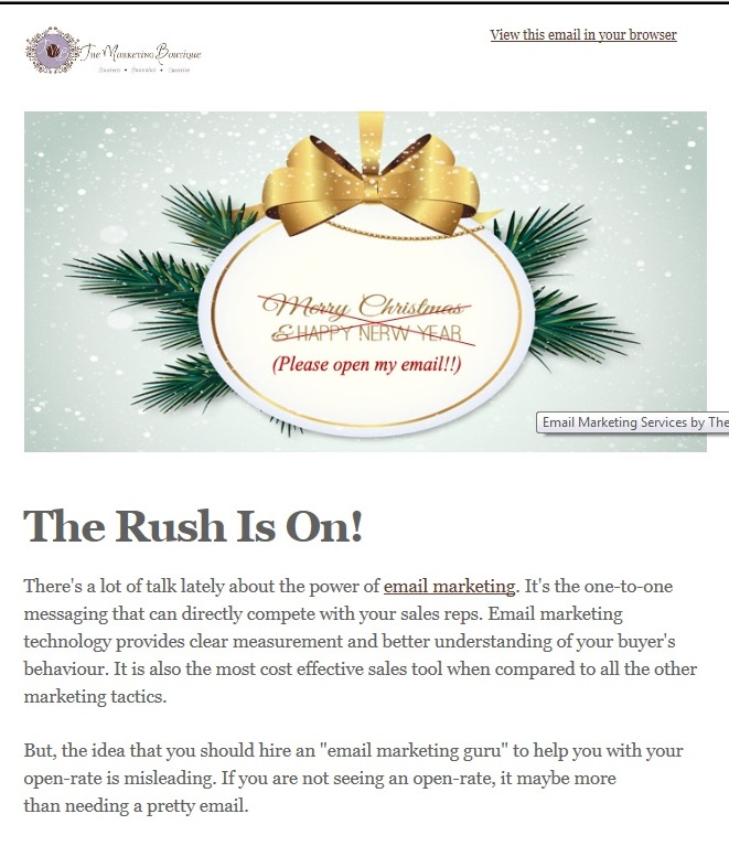 Newsletter - The Marketing Boutique