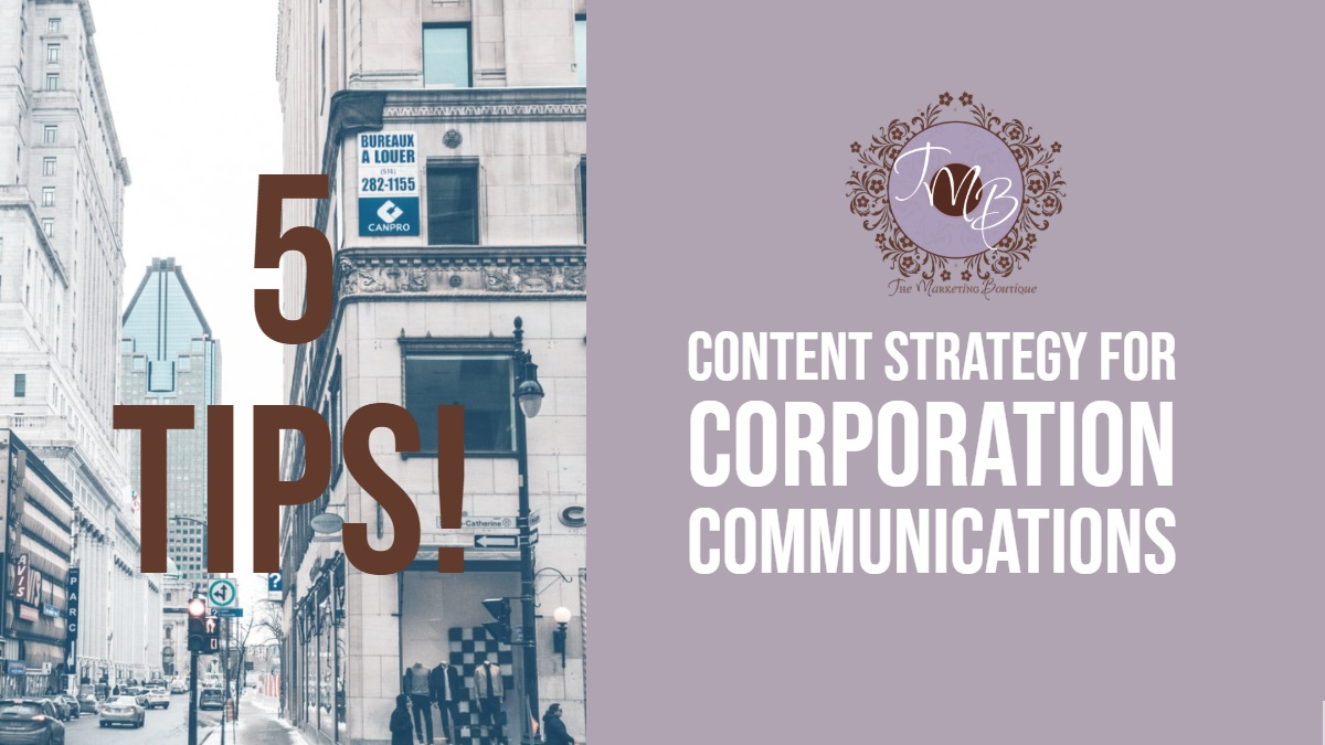 Content strategy for corporate communications